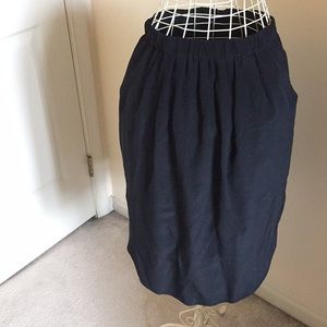 Madewell Black silk skirt, size M. Lined